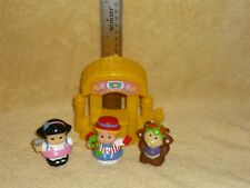 Fisher Price Little People Circus Lot: Booth, Sonya, Monkey, Eddie
