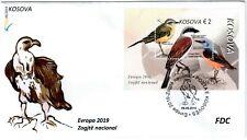 Kosovo Stamps 2019. Europa CEPT: National Birds. FDC Block, Souvenir sheet MNH