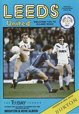 86/87 Leeds United v Brighton & Hove Albion League Division 2