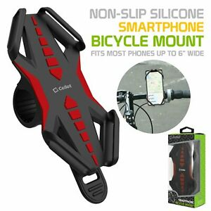 Cellet Universal Bicycle Phone Mount Cradle Holder for Apple Samsung - Red