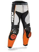 KTM MOTORBIKE MOTORCYCLE COWHIDE LEATHER ARMOURED BIKERS PANTS/TROUSER
