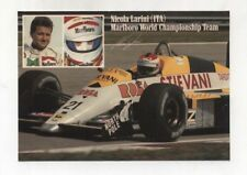 Adesivo Formula 1 NICOLA LARINI Marlboro team OSELLA Stievani 1988 F1 sticker