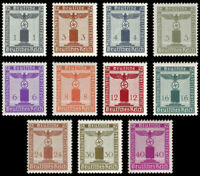 EBS Germany 1942 - NSDAP Officials - Dienstmarken - Michel 155-165 MNH** cv $90