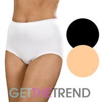 Womens Knickers Ladies High Waist Maxi Briefs Cotton Underwear La Marquise X 3