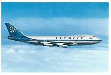 Olympic Airways Boeing 747-200 B  Jumbo Jet Aeroplane Rare Greece Postcard 1