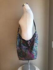 Etro Soft Fabric Sack Multi Colored Paisley Zipper Italy NWOT