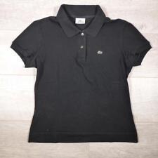 Ladies LACOSTE Black Vintage Designer Polo Shirt T-Shirt Size 42 / UK 10 #E2677