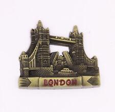 London Bridge UK Fridge Magnet Bronze Metal Souvenir Gift New