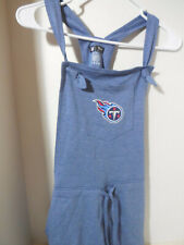 New Ladies Tennessee Titans Medium Blue Tank Romper Loose Fit Logo Official NFL