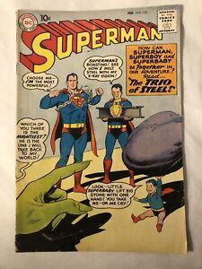 Superman #135 (February 1960, DC Comics) The Trio of Steel!
