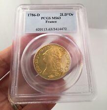 France 1786-D Louis XVI Gold 2 Louis D'Or PCGS MS63