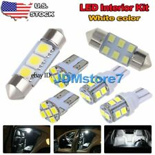 9x White LED Map Dome Light interior bulb package kit for 1998-2002 Honda Accord