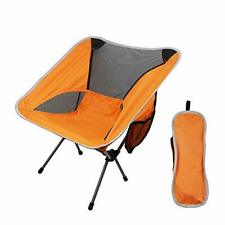 Ultralight Camping Chair Fishing Chairs Portable Folding Beach Chair (Orange)