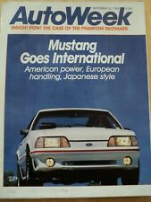 AUTOWEEK MAGAZINE SEP 1986 MUSTANG GOES INTERNATIONAL PHANTOM SKIDMARK