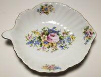 J. Godinger & Co. Antique Reflections White Floral Leaf Shape Dish Vintage