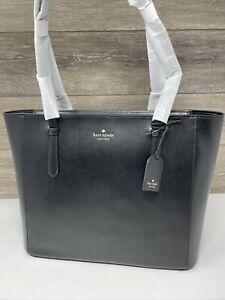 Kate Spade Schuyler Medium Tote Shoulder Bag Zip Top smooth Leather Black