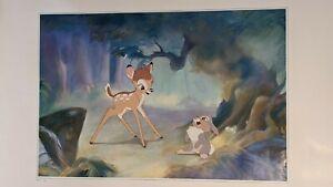 "The Art of Disney Walt Disney 1942 ""Bambi and Thumper"" Large Print 36""x24"""