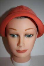 Vintage Orange Twill Cloche Women's 60's Hat