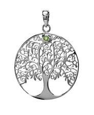 ciondolo albero della vita argento con un PICCOLI peridoto Symbolik per collana
