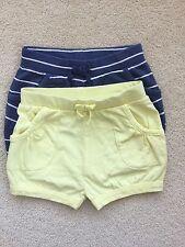TU Lot Of 2 Girls Cotton Jersey Shorts Age 1-1.5years