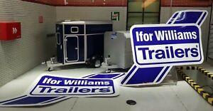 Ifor Williams Livestock ATV Q Range Trailer Hardtop Canopy Decals Stickers x2