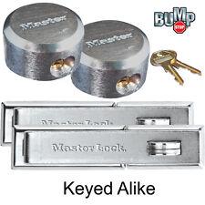 Master Lock (2) Keyed Alike Hidden Hasp / Shackle Padlock 730-6271NKA-2 BumpStop