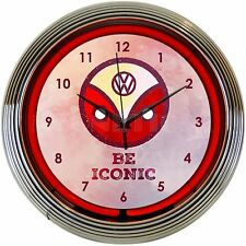 Neon clock sign Vw Beetle Bug Van grille bus Be Iconic Volkswagen Neonetics lamp