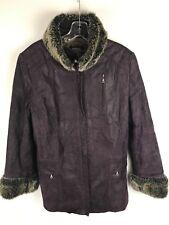DANIER LEATHER Women's Purple Winter Thinsulate Jacket Size XL