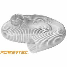 POWERTEC 70144 2-1/2-Inch x 20-Feet Flexible PVC Dust Collection Hose  Clear