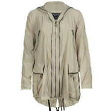 New All Saints SIV Beige Parka Raincoat Jacket Mac UK 12 / EU 40 / US 8 RRP £250