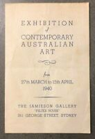 1940 JAMIESON GALLERY EXHIBITION incl Norman Lindsay FREE SHIPPING W/WIDE