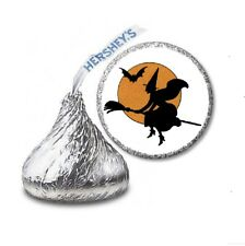 108 HALLOWEEN WITCH Party Favors Stickers Labels for Hershey Kiss