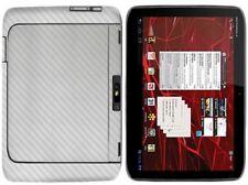 Skinomi Carbon Fiber Silver Cover+Screen Film for Motorola DROID XYBOARD 10.1