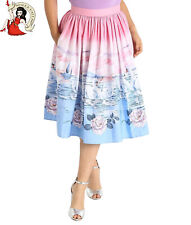 HELL BUNNY SWAN 50s SKIRT floral ROSES rockabilly XS-4XL