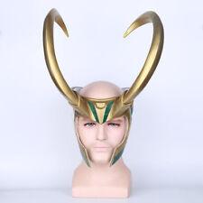 Movie Thor 3 Ragnarok Loki Laufeyson PVC Costumes LOKI Helmet Cosplay Mask Props