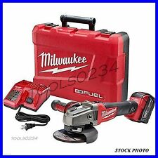 "New Milwaukee 2781-21 M18 FUEL 4-1/2"" / 5"" Grinder, Slide Lock-On Kit, 1 Battery"