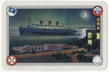 Playing Cards 1 Swap Card Old Vintage FURNESS LINES Shipping CRUISE LINER Ship 1