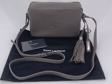 Neu Luxury Original SAINT LAURENT YSL Damen Tasche Bag Leder grau -470299