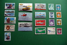 20 verschiedene Briefmarken Motiv Flugzeuge, Set 2 : USA, DDR, Bundesrepublik D