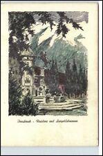 Künstlerkarte INNSBRUCK Tirol Residenz Leopoldsbrunnen
