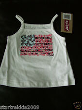 Levi's Baby Girls Graphic Knit Top/Tank, White Color, Size 18 Months. Nwt