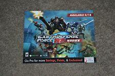 RARE Earth Defense Force 2025 Gamestop 2014 Promo Display Poster 11x14 MINT!!!