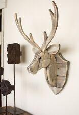 Recycled Wood Deer Head Wall Hanging Rustic Cabin Lodge Decor Moose Elk Antlers