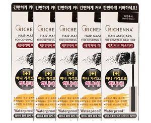 Richhena Hair Maskara 14 ml 5+5 Promo BOGOF Value Pack For Gray Easy and Quick