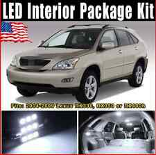 15 PCS Pure White LED Lights Interior Package Combo for Lexus RX330 RX350 RX400h