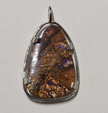 Pendentif argent opale Yowah Boulder 39 carats - Natural Opal Silver pendant