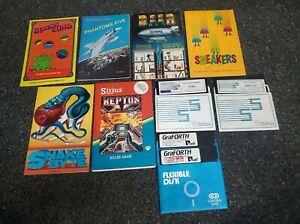 Apple II IIe IIc IIgs - Lot of rare DEMO and BETA manuals and disks from Sirius
