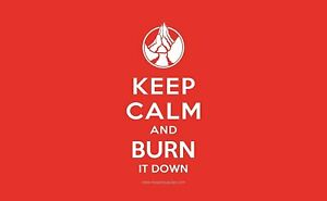 Keep Calm and Burn It Down! Red Mana Premium Playmat for MTG Yugioh! Pokemon