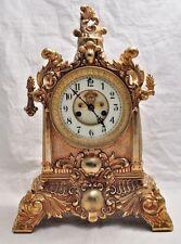 Antique Waterbury Rococo Revival Shelf Clock W Open Escapement
