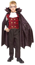 New Vampire Count Dracula Gothic Boys 5-7yrs Med Halloween Fancy Dress Costume